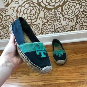 Tory Burch Color Block Espadrille Slip Ons